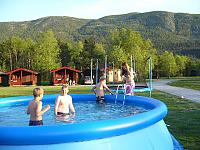 Birkelund Camping has a swimmingpool and a sauna
